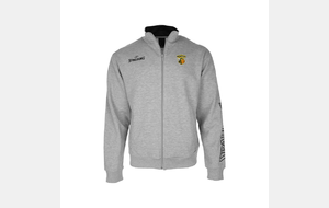 Veste TEAM II ZIPPER JACKET - Gris chiné - Logo club brodé